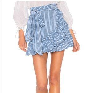 Tularose striped chambray Maida skirt size medium